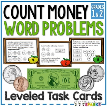 Money Constructed Response Task Cards {Differentiated}