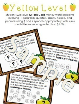 Money Constructed Response Task Cards