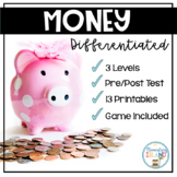 Money DIFFERENTIATED Leveled Printables