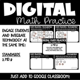 Money Digital Math Practice for 2nd grade