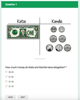 Money Digital Quiz Bundle for Google Forms®