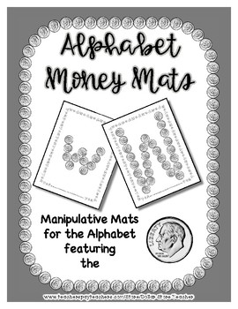 Money - Dime -  Manipulative Mats Upper & Lower Case Letters  Fine Motor Work