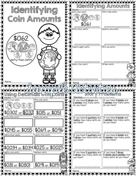 Money Word Problems, Notation, Comparing, & Identification