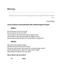 Money ESL Conversation Worksheet