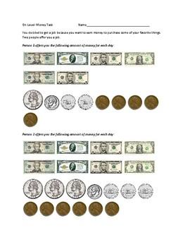 Money Enrichment Activity