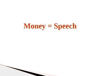 Money Equals Speech PowerPoint
