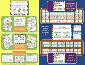 Money Essentials Bundle for Special Education [Task Cards, Worksheets]