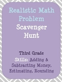 Money, Estimation & Rounding Third Grade Math Scavenger Hunt