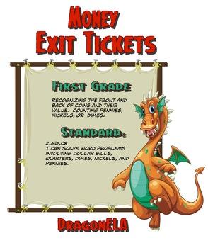 Money Exit Tickets First Grade