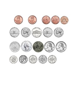 Money FREEBIE Identifying and Sorting Coins Printable