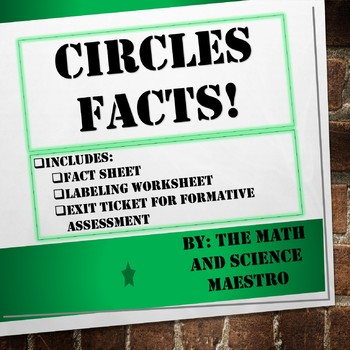 Money Facts About Circles! VA SOL 5.9 Quick Mastery Sheet!