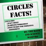 Circles Facts! Parts of a Circle Notes + More!