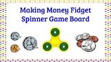 Math Centers- Money Fidget Spinner Game Boards