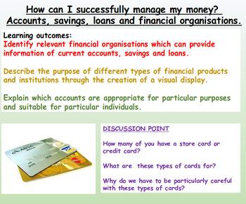 Money: Finances