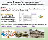 Money: Finances - Presentation and Worksheets