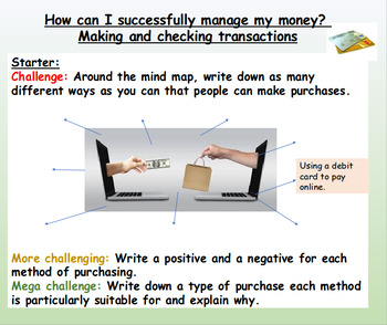 Money: Financial Transactions