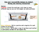 Money: Financial Transactions - Presentation and Worksheets