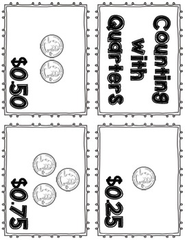 Money Flash Cards Freebie - Coins, Dollars, Counting with Quarters