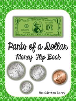 Money Flip Book - Parts of a Dollar