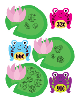 Money - Frogs and Lily Pads Matching