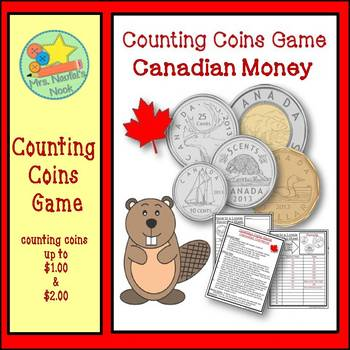 Money Game - Counting Coins Using Canadian Money