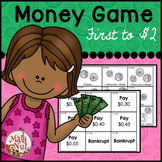 """Coin Counting Game """"First to Two Dollars"""" (Money Game)"""