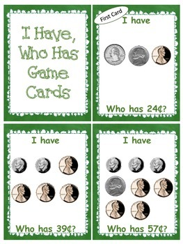 Money Game: I Have, Who Has- 50 Cards!