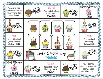 Money Game: Little Cupcake Shop ~ Coins
