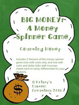 Money Game- Money Spinner Game