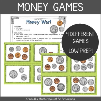 Money Games for Math Centers (Low Prep!)