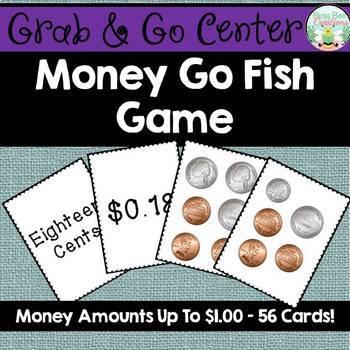 Money Go Fish Game - Money Amounts to $1.00