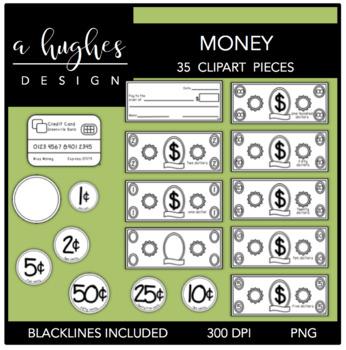 Money Clipart {A Hughes Design}