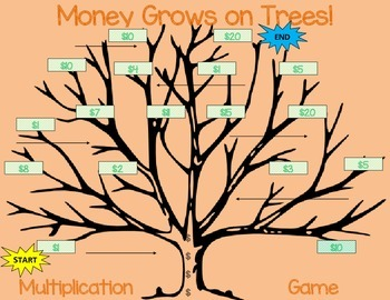Money Grows on Trees! Multiplication Original Game 1st, 2nd, 3rd, 4th, 5th B2S