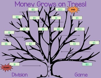 Money Grows On Trees Original Division Game 3rd 4th And 5th Grade