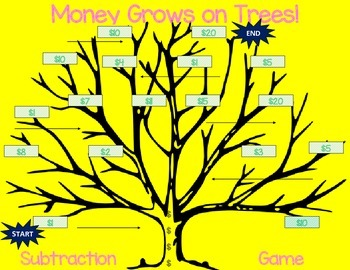 Money Grows on Trees! Subtraction An Original Game K, 1st, 2nd, 3rd, 4th, 5th