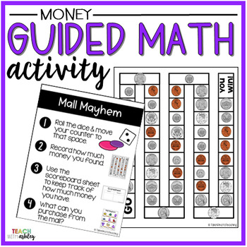 Money Guided Math Activity Mall Mayhem