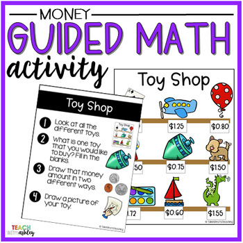 Money Guided Math Activity Toy Shop