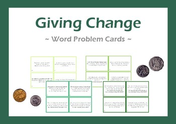 Money Handling & Change Cards