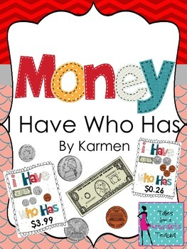 """Money """"I Have Who Has"""""""