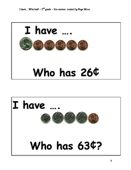 Money - I have Who Has? game
