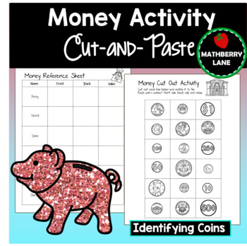 Money Identification Activity Cut and Paste - Adding coins
