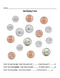 Money Identification - Pennies, Nickels, Dimes