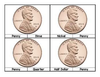 Money Identification Task Box Cards