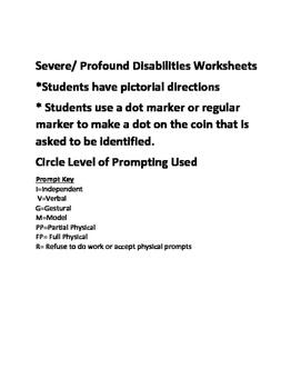 Money Identification Worksheets