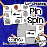 Money (Identifying Coins) - Self-Checking Math Centers