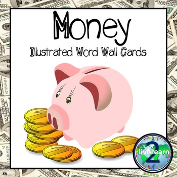Illustrated Word Wall Cards FREEBIE: Money