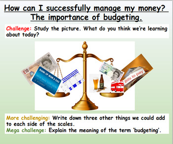 Money: Income and Outgoings
