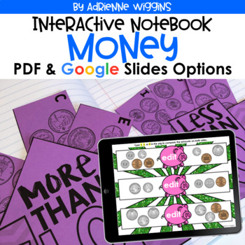 Money Interactive Notebook (Google Classroom & PDF) Distance Learning