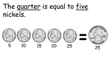 Money:  Interactive Reader:  The Quarter -  Kindergarten; Autism; Special Ed.