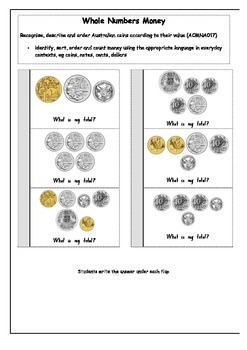 Money Interactive workbook/notebook activities